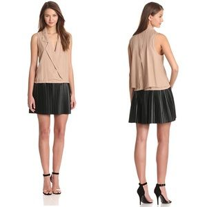 Tracy Reese Silk Dress with Pleated Skirt